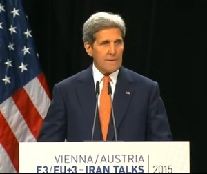 Secretary of State John Kerry announces nuclear deal with Iran. Image-VOA