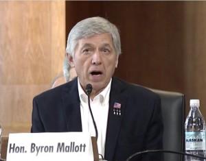 Lt. Governor Mallott giving Testimony Before U.S. Senate Energy Committee. Image-State of Alaska
