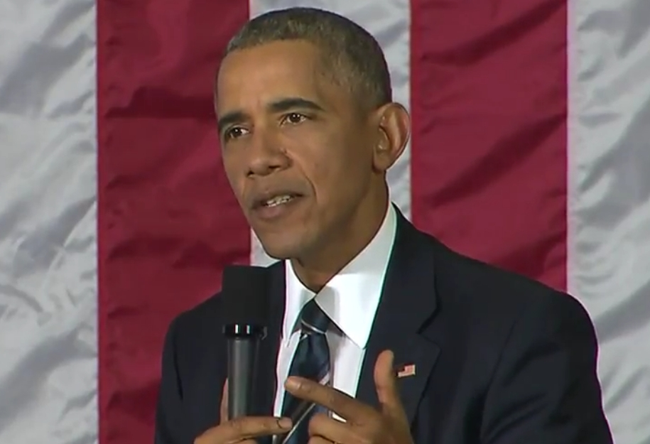 President Obama taking and answering questions put forth by Cuban entrepreneurs in Havana today. Image-White House.