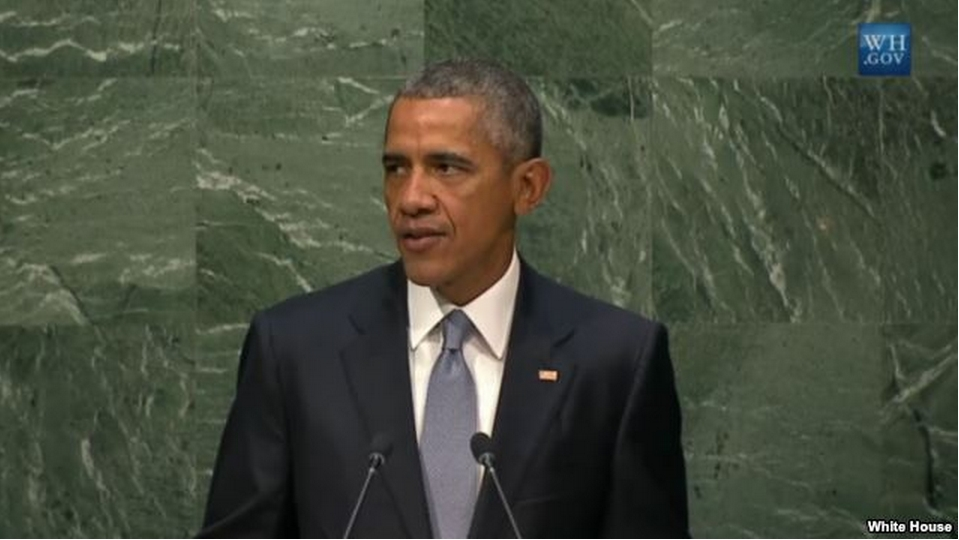 President Barack Obama delivers a speech before the United Nations General Assembly, Sept. 28, 2015.