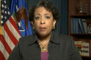 U.S. Attorney General Loretta Lynch cites the FBI's statistics on hate crimes and called on the public to report hate crimes.