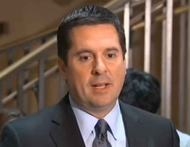 U.S. House of Representatives Intelligence Committee chairman Congressman Devin Nunes informing reporters that they have uncover no evidence of wire-tapping claimed by Trump. Image-VOA
