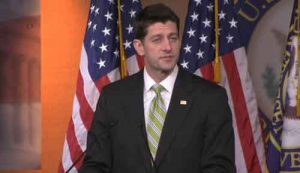 House Speaker Paul Ryan announcing decision to withdraw Trump's Healthcare bill. Image-VOA