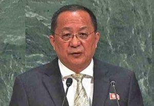 North Korea's Foreign Minister Ri Yong Ho. Image UN video screengrab