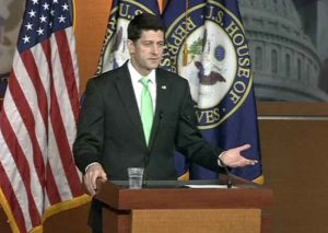 "When asked, House Speaker Paul Ryan told reporters, ""We've cleared that up, that we see no evidence of that."" Image-VOA"