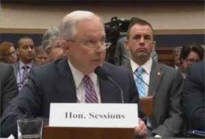 U.S. Attorney General Jeff Sessions testifying in front of House Judiciary Committee. Image-CNN video screengrab