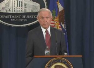 Attorney General Jeff Sessions announces the rescinding of the DACA program for immigrant children. Image-VOA