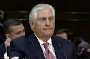 Rex Tillerson, Trump's choice for Secretary of State testifying at Senate Foreign Relations committee on Wednesday. Image-VOA