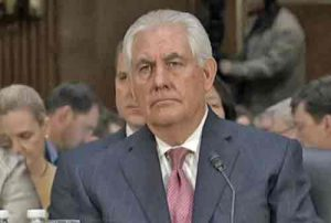 Ex-Exxon CEO Rex Tillerson at Senate confirmation hearing. Image-U.S. Senate