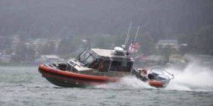Members of Coast Guard Station Juneau test the capabilities of their new 29-foot Response Boat — SMALL II, in Juneau, Alaska, July 10, 2018. The RB-S II is an upgrade to the current 25-foot Response Boat — SMALL and is due to phase it out soon. U.S. Coast Guard photo by Petty Officer 1st Class Jon-Paul Rios.