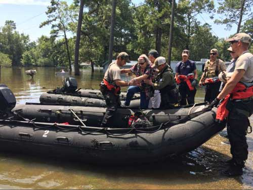 California Air National Guard with the 129th Rescue Wing continue to conduct water rescue operations in Vidor, Texas.Image-Alaska National Guard