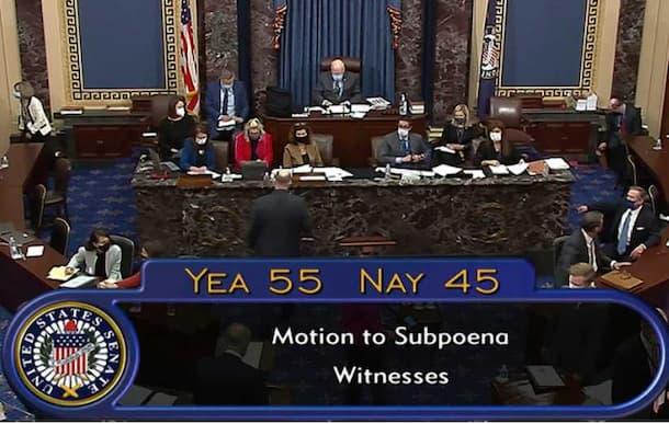 Senate Votes to Call Witnesses in Trump Impeachment Trial