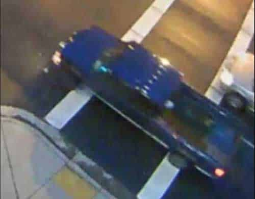 Surveillance footage of suspect vehicle in Saturday morning fatal hit-and-run. Image-APD