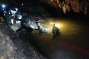 PHOTO: The cave system is about 10 kilometres long and parts are filled with water. (AP: Tham Luang Rescue Operation Centre)