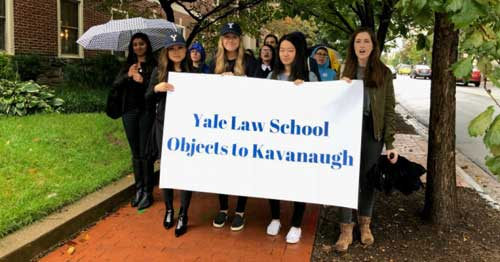 Students at Yale Law School, Kavanaugh's Alma Mater, Join Nationwide Protests Against His Confirmation